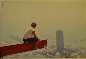 John Ryan, Local 63, atop the Hancock Building, Chicago (1968)