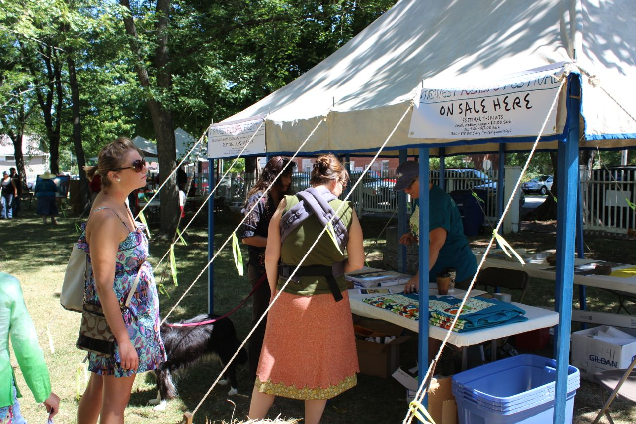 Midwest Folklife Festival Info Booth