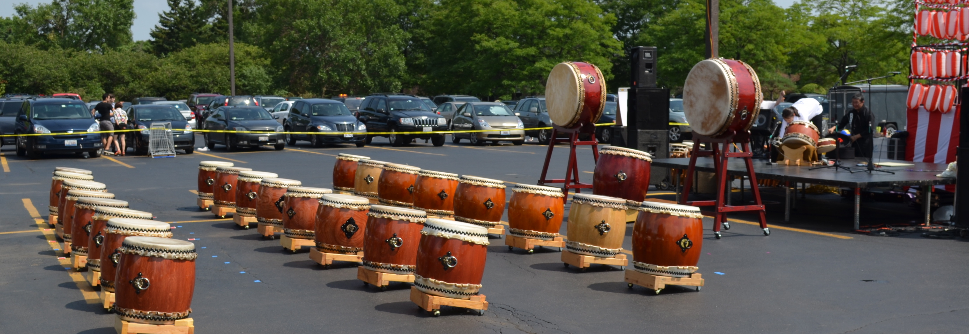 Taiko drums at Mitsui Market, Arlington Heights, IL