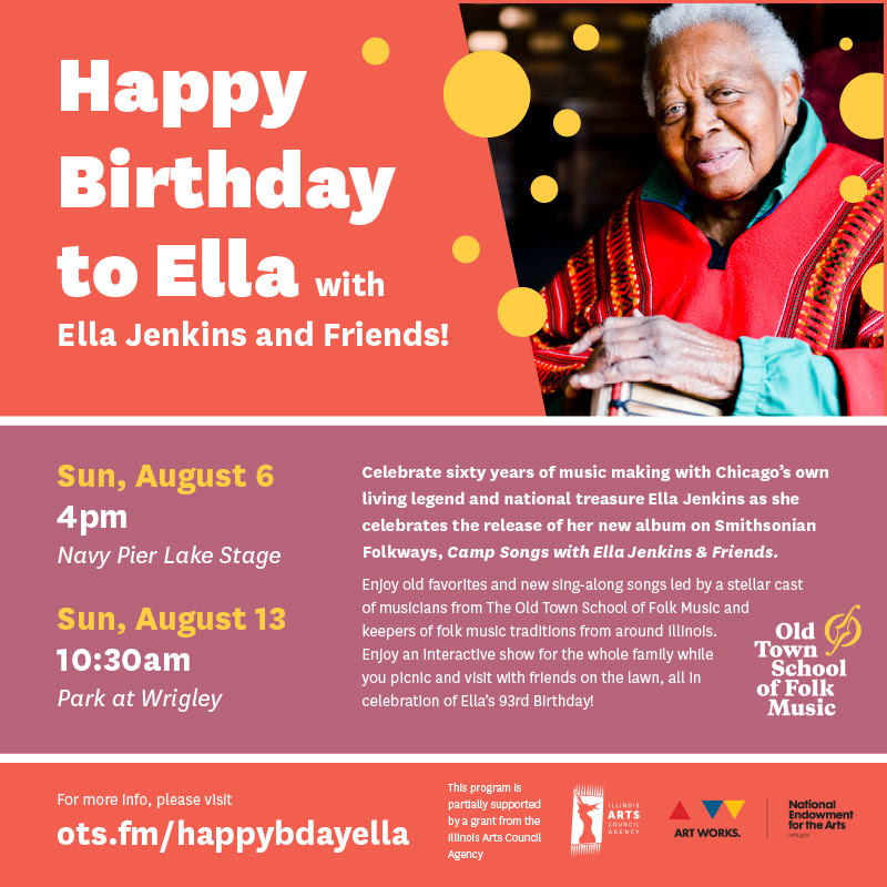 Host Of Others To Celebrate The 93rd Birthday Legendary Childrens Musician Ella Jenkins Its Free And Most Kid Friendly Event You Could Find